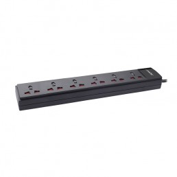6 Socket Single Switch Spike Suppressor (1.5Mtr Cable)