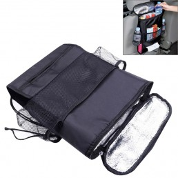 Multi-Pocket Insulation Cold Car Seat Back Storage Bag (Black) …