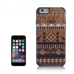 Ethnic Pattern Wood Paste Plastic Case/ Cover For IPhone 6 & 6S