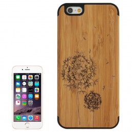 Dandelion Pattern Wood Paste Black  Mobile Case for iPhone 6 & 6S