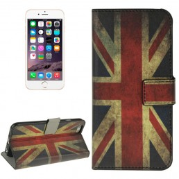 UK Flag Pattern Horizontal Flip Magnetic Buckle Leather Case with Card Slots & Wallet & Holder for iPhone 6 & 6S