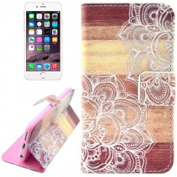 Flower Pattern Leather Case with Holder & Card Slots & Wallet for iPhone 6 & 6S