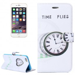 TIME FLIES Pattern Flip Leather Case with Holder & Card Slots & Wallet for iPhone 6 & 6S