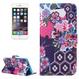 Flowers Pattern Flip Leather Case with Holder & Card Slots & Wallet for iPhone 6 & 6S