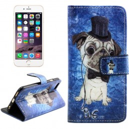 Dog Pattern Cross Texture Leather Case with Holder & Card Slots & Wallet for iPhone 6 & 6S