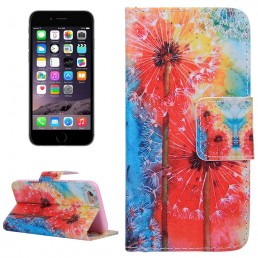 Colorful Dandelion Pattern Horizontal Flip Leather Case with Holder & Card Slots & Wallet for iPhone 6 & 6S