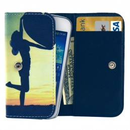Universal Lady Pattern Leather Case with Card Slots & Wallet for iPhone 6 & 6S / iPhone 5S & 5C, Samsung Galaxy S4 / i9500 / S3 / i9300