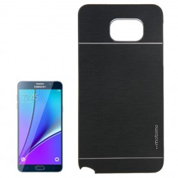 2 in 1 Brushed Texture Metal & Plastic Protective Case for Samsung Galaxy Note 5 / N920(Black)
