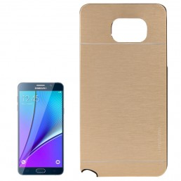 2 in 1 Brushed Texture Metal & Plastic Protective Case for Samsung Galaxy Note 5 / N920(Gold)