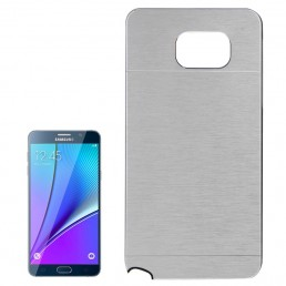 2 in 1 Brushed Texture Metal & Plastic Protective Case for Samsung Galaxy Note 5 / N920 (Silver)