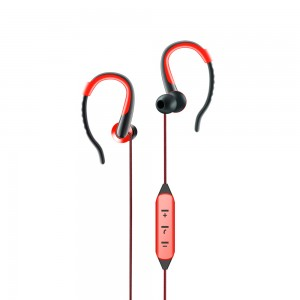 Bluetooth Earphones With Mic. - Artis BE110M Red