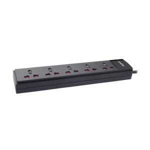 5 Socket Single Switch Spike Suppressor (1.5Mtr Cable)