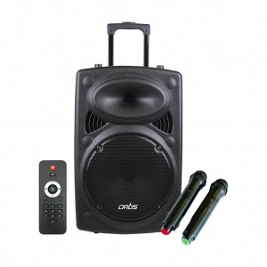 Wireless Trolley Bluetooth Speaker with USB /FM/TF card Reader/AUX In/Mic In : Artis BT912
