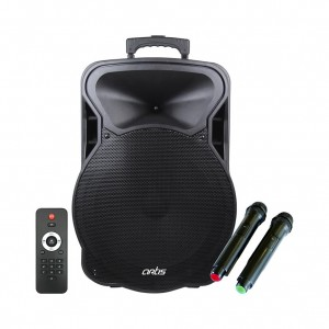 Wireless Trolley Bluetooth Speaker with USB /FM/TF card Reader/AUX In/Mic In : Artis BT915