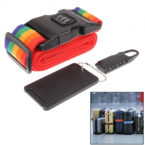 3in1 Travel Security Kit : Combination Lock , Belt Lock, Name Card