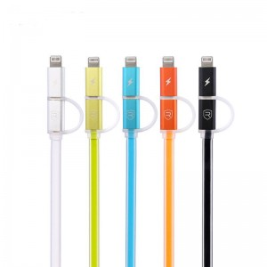 2in1 Sync/Charge Cable iPhone+MicroUSB - Remax