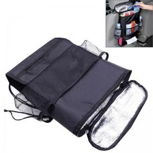 Multi-Pocket Insulation Cold Car Seat Back Storage Bag (Black) …