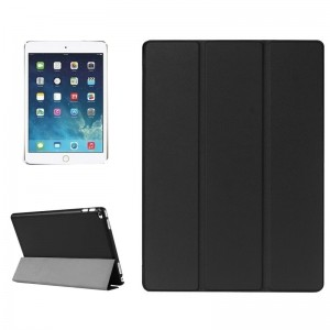 Custer Texture Horizontal Flip Smart Leather Case with 3-folding Holder for iPad Pro 12.9 inch(Black)