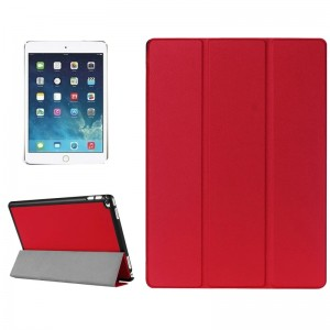 Custer Texture Horizontal Flip Smart Leather Case with 3-folding Holder for iPad Pro 12.9 inch (Red)