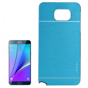 2 in 1 Brushed Texture Metal & Plastic Protective Case for Samsung Galaxy Note 5 / N920(Blue)