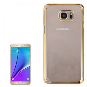 Electroplating Plastic Case for Samsung Galaxy Note 5 / N920(Gold)