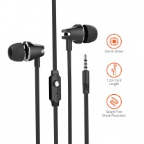 E410M Powerful Bass Dynamic Earphone with Mic.