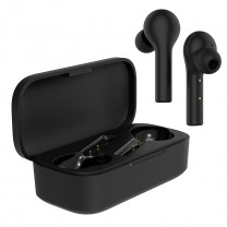 BE110M True Wireless Stereo Bluetooth 5.0 Ear buds with 380mAh Charging case with Touch Control. Compatible with Android & iOS. IPX5 Sweat Proof. (Black)