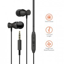 E450M Powerful Bass Dynamic Earphone with Mic.