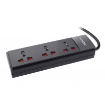 3 Socket Single Switch Spike suppressor (1.5 Mtr Cable)