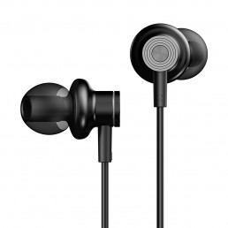 E600M in-Ear Headphones with Mic (Black)