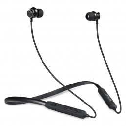 BE310M In-Ear Sports Bluetooth Wireless Earphone Neckband with Stereo Sound, Deep Bass, Hands free Mic. IPX5 Sweat-proof & Quick Charge (Black)