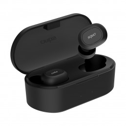 BE410M True Wireless Stereo Bluetooth 5.0 Earphones with 800mAh Charging case. Compatible with Android & iOS. Dual Phone Connectivity. IPX5 Sweat Proof. (Black)