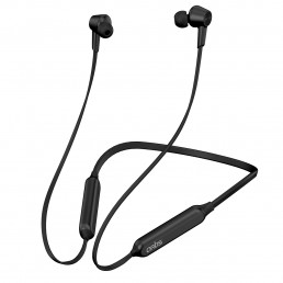 BE990M Sports Bluetooth Wireless Earphone Neckband with Active noise Cancellation, Stereo Sound, Deep Bass, Hands free Mic. IPX5 Sweat-proof & Quick Charge (Black)