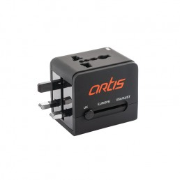 Universal Travel Adapter With 2.1A USB Charging - Artis U401