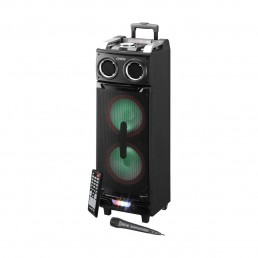 Artis BT900 Outdoor Bluetooth Trolley Speaker with LED Light/USB /FM/SD card Reader/AUX In/Mic In/Guitar In