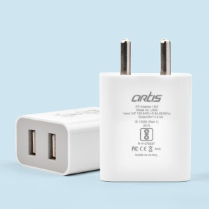 U300 2.4A USB Wall Charger Adapter/BIS Certified/Indian Plug